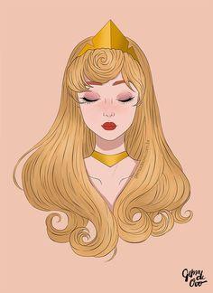 Princesa Aurora de A Bela Adormecida Aurora Disney, Princesa Disney Aurora, Disney Dream, Disney Magic, Disney Princess Drawings, Disney Princess Art, Disney Drawings, Princess Cartoon, Disney Fan Art