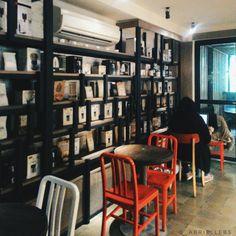 one of the comfiest coffees Interior And Exterior, Coffee Shop, Bookcase, Comfy, Shelves, Random, Home Decor, Coffee Shop Business, Shelving