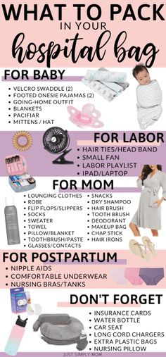 What You Need to Pack in a Hospital Bag With Printable Checklist