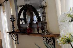 diy mantel shelf for brick fireplace - Google Search