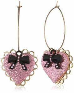 "Betsey Johnson Paris is Always a Good Idea"" Heart Drop Earrings on shopstyle.com"