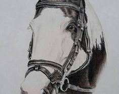 Artículos similares a Vendido-reservado para Cynthia-Original caballo dibujo a carboncillo de 'Pasión desenfrenada' en Etsy Etsy, Drawings Of Horses, The Originals