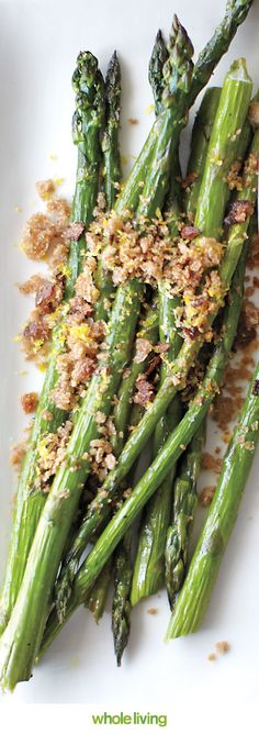 Give fresh asparagus a toasty crunch with breadcrumbs and lemon zest, Wholeliving.com