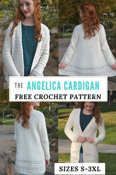 Angelica Cardigan—Free crochet pattern - Andrea Krohn - Angelica Cardigan—Free crochet pattern Free Crochet Cardigan pattern, available in sizes Make a comfy & stylish cardigan with this free crochet pattern. Cardigan Au Crochet, Black Crochet Dress, Crochet Coat, Crochet Clothes, Crochet Sweaters, Crochet Vests, Crochet Socks, Crochet Shawl, Crochet Stitches
