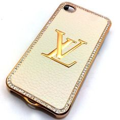 Designer LV Iphone 4/4s Hard Bling Leather Case with Shell Case (Cream Gold) by Voice Air, http://www.amazon.com/dp/B006YZRG2K/ref=cm_sw_r_pi_dp_UI2Yqb1ZKSQ77