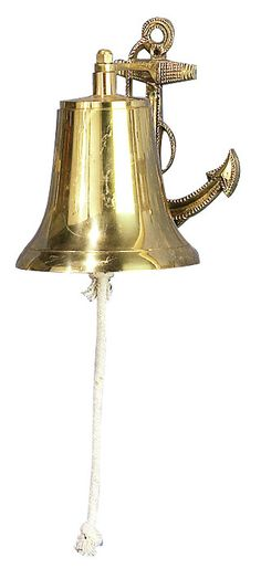 Bell Decor Amusing Benzara Metal Wood Captains Bell To Decor Tables Or Shelves  Metals Design Ideas