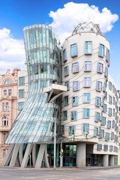 Dancing Drunk House, Prague, Czech Republic. #prague #dancinghouse