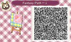 Animal Crossing QR Codes ❤ Pink Fantasy  Diamond path  Lower Left Corner TILE#3 of 9