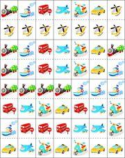 Vervoer domino, free printable / Jeux de dominos, les moyens de transport