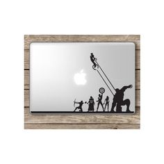 Avengers Superheroes Marvel Apple Macbook Laptop Vinyl Sticker Decal ❤ liked on Polyvore featuring accessories and tech accessories