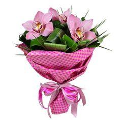Купить оригинальный букет их орхидей «Хит сезона» с доставкой