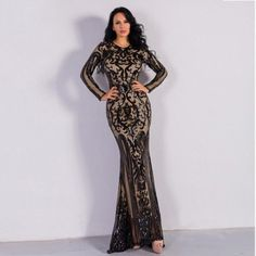 Color : Black Material : Polyester Style : Sexy & Club Pattern Type : Solid Neckline : O-Neck The post Sexy O Neck Long Sleeve Retro Sequin Maxi Dress appeared first on Power Day Sale. Long Sleeve Evening Gowns, Sequin Evening Dresses, Sequin Maxi, Long Sleeve Gown, Maxi Dress With Sleeves, Dress Pants, Simple Party Dress, Simple Cocktail Dress, Sequin Cocktail Dress