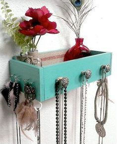 Jewelry Drawer Org. | Don't Throw Away Those Old Dresser Drawers! Here Are 13 Genius Ways to Repurpose Them Instead!