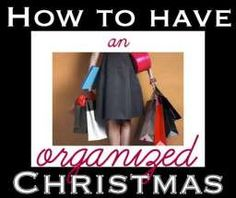 How to have an Organized Christmas - Ask Anna