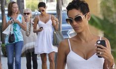 Nicole Murphy shows off her voluptuous cleavage in revealing white summer dress White Dress Summer, Summer Dresses, Nicole Murphy, Beverly Hills, Outfits, Shopping, Hair, Suits, Summer Sundresses