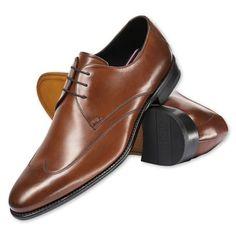 ba9e1813f83 Derby do bico longo em couro marrom. Sapato Social Masculino MarromTipos De  Sapatos ...