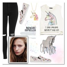 """""""Unicorns are cool :)"""" by christinacastro830 ❤ liked on Polyvore featuring Topshop, INDIE HAIR, Comeco, Sophia Webster, Accessorize, Forever 21, women's clothing, women, female and woman"""