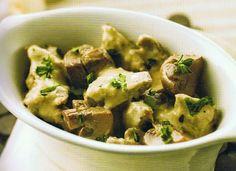 Receitas para a Dieta dos 31 Dias com a Bimby: Bifinhos com Molho de Mostarda e Cogumelos