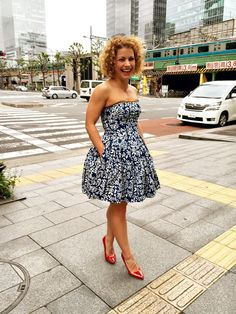 dress True Blue by Jana Gavalcova Indigo, Strapless Dress, Blue, Dresses, Fashion, Strapless Gown, Vestidos, Moda, Indigo Dye