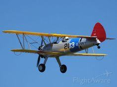 Boeing Stearman E75 (ZK-XAF) at Tauranga (NZTG) Airshow, practice day, 25th January 2014. This is me flying.