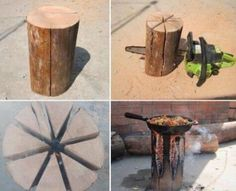 This is so cool.  Cooking on a log.