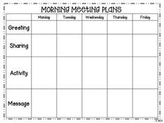 morning meeting lesson plan template - freebie morning meeting lesson plan template classroom
