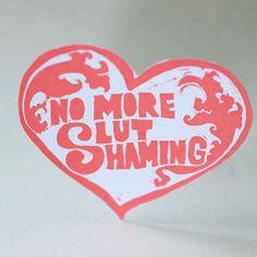 Feminist Stickers: No More Slut Shaming $2.75