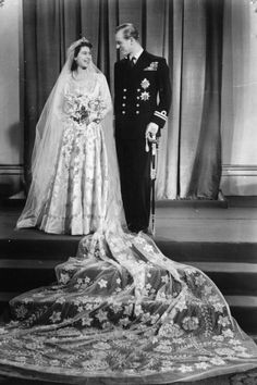 1947 - Princess Elizabeth and Philip Mountbatten wedding - she becomes Queen Elizabeth II, one of the oldest living monarchs having just celebrated her 90th birthday in 2016.