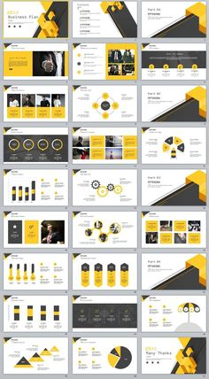 27+ yellow Business report plan PowerPoint Template