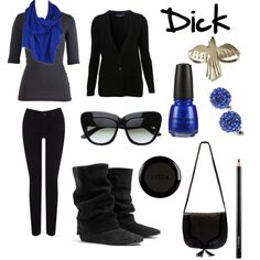 Dick Grayson (a.k.a the first boy wonder/ nightwing) outfit