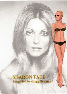 Sharon Tate paper doll by Gregg Nystrom / Gregg Nystrom facebook