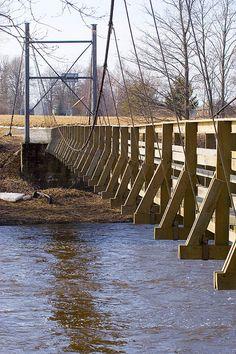 Jõesuu suspenion bridge, Pärnu river, Estonia