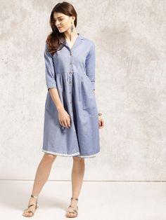 9ad31ac347c Buy Anouk Blue Shirt Dress online