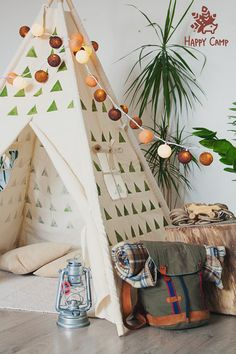 OLIVE triangles Playhouse Teepee Tent Tipi Play tent Play Kids Tents, Teepee Kids, Teepee Tent, Reading Nook Kids, Cotton Lights, Wood Species, Play Houses, Store Design, Playroom