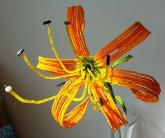 French beaded flower -lily- by Markingtime on Etsy