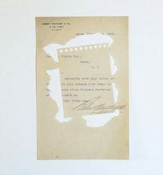 Misturu Koga's illustrated and hand-torn paper