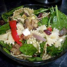 Griekse pastasalade met geroosterde groenten en feta @ allrecipes.nl