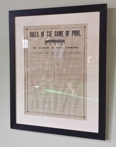 Original Framed rules available now.Snooker, pool or pyramids | Browns Antiques Billiards and Interiors.