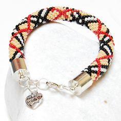 Bracelet Beaded  Crochet Bracelet  Beadwork  Burberry by Danfe, $40.00