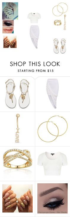 """""""Untitled #388"""" by nkenge-sawyer on Polyvore featuring beauty, Gioelli Designs, Melissa Odabash, Belk & Co. and Topshop"""
