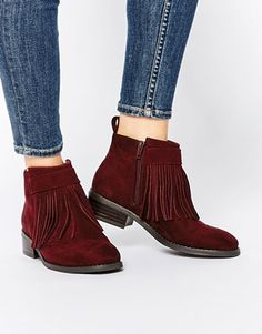 ASOS – AGAINST THE WIND – Ankle-Boots mit Fransen