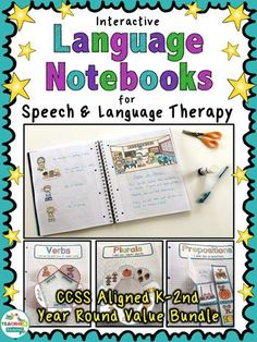 Interactive Language Notebooks for Speech & Language Therapy by teachingtalking.com