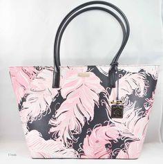 Kate Spade Jules Brightwater Drive Large Tote New Auth Black Pink Bag $295 | eBay