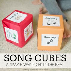 Music with Kids: Song Cubes and Finding the Beat - Pre-K Pages