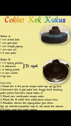 Kek coklat kukus cheese resepi mudah dan ringkas appetisers