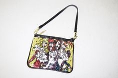 Betsey Johnson Yellow Rubber Let's Shop Mall Rats Small MIni Clutch Purse Bag #BetseyJohnson #Clutch