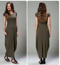 Sukienka maxi ,kieszenie,piękna zieleń khaki  r.S