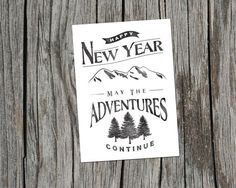 Items similar to Printable New Year, New Adventures Print on Etsy Blue Envelopes, Happy Year, New Year Card, New Adventures, First Love, Christmas Cards, Printables, News, Prints