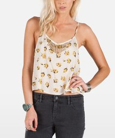 Look at this Cream Soundtrack Cami on #zulily today!