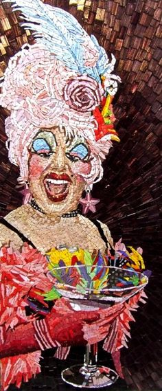 SAMA's Best: Mosaic Arts International 2011. Members Choice Award, 'Miss Anita Cocktail', 2010, by Michael Kruzich.